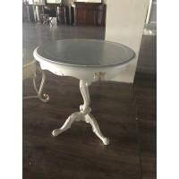 """Столик чайный """"Шанталь (Shantal)"""" —  Белый (с золотом) (MK-5096-WG)"""