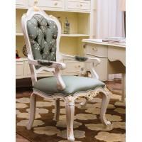"""Кресло для кабинета """"Шанталь (Shantal)"""" —  Белый (с золотом) (MK-5099-WG)"""