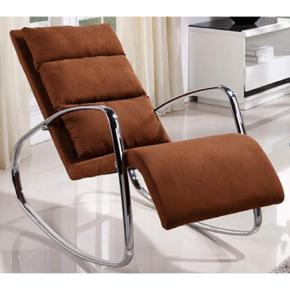 """Кресло-качалка """"MK-5509-BR"""" обитый тканью —  Коричневый"""