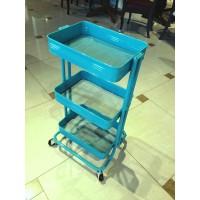"""Тележка """"MK-6300. (SR-1620)"""" с 3-мя металлическими корзинами —  Голубой"""