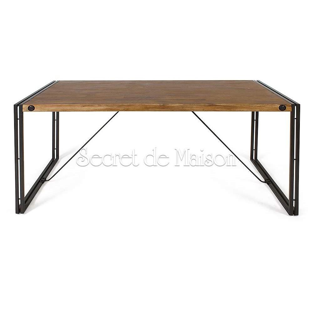 Стол обеденный Secret De Maison Сити (CITY) ( mod. CTY D04-160 ) — металл/дерево акация