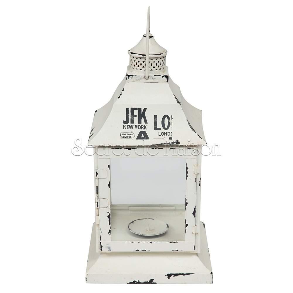 Фонарь для свечей Secret De Maison Романтик (ROMANTIQUE) ( mod. M-5690 ) — белый