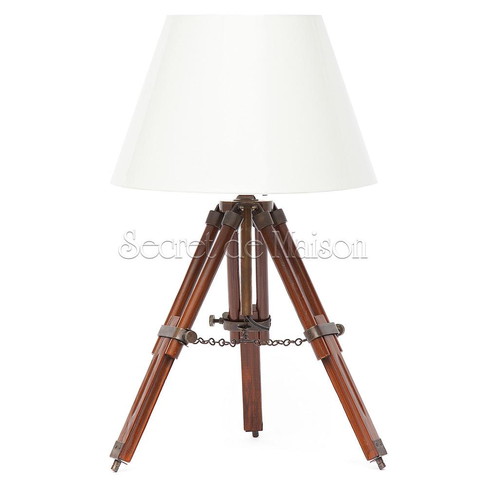Лампа настольная на треноге Secret De Maison ( mod. 18757 ) — античная медь/коричневый