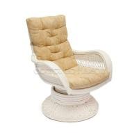 Кресло-качалка Андреа релакс медиум White (Andrea Relax medium) с подушкой — white (белый)