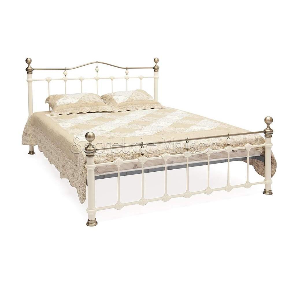 Кровать Диана 200x160 (Diana) Античный белый — Античный белый/Античная медь