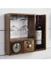 Винный кабинет с часами Secret De Maison Шату (CHATEAU) (mod. C-3569) — натуральный (natural)