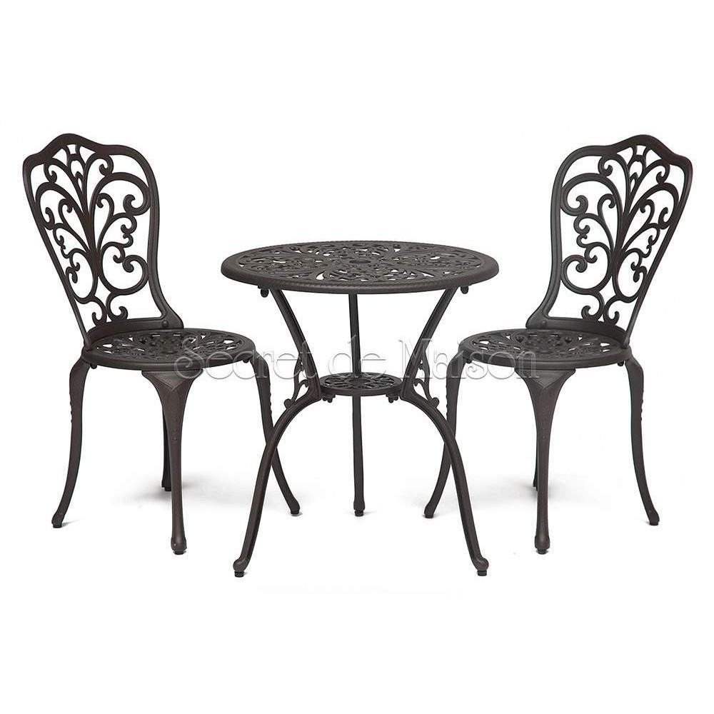 Комплект Secret De Maison Романс (Romance) (стол +2 стула) — бронза/bronze