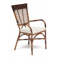 Кресло Каванто (Kavanto) с подлокотниками — коричневый античный / Brown Antique