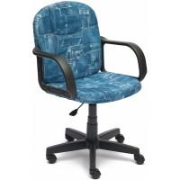 """Кресло компьютерное Багги (Baggi) — принт """"Джинса"""""""