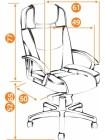 Кресло компьютерное Бергамо хром (Bergamo) — коричневый (36-36)