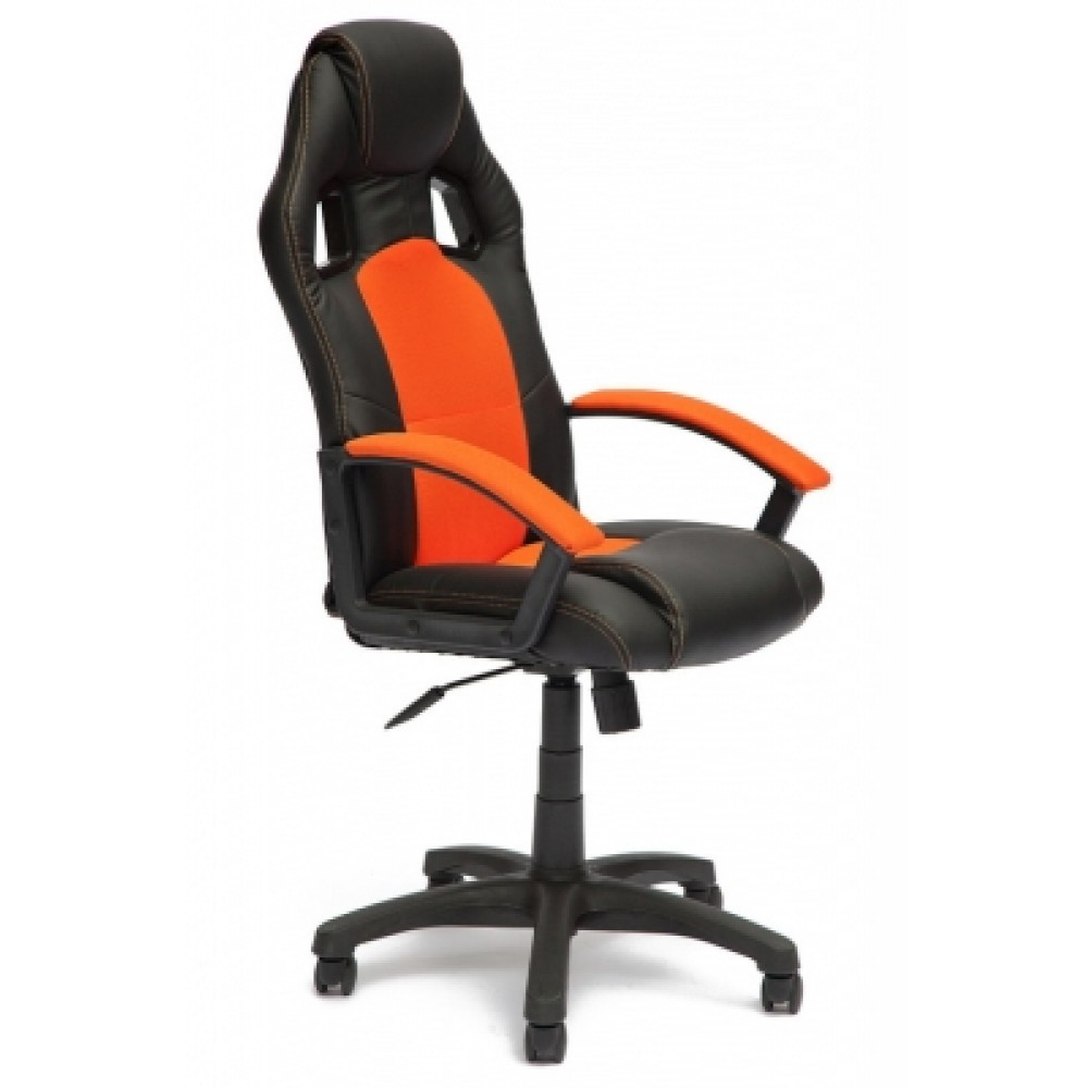 Кресло компьютерное Драйвер (Driver) — черный/оранжевый (36-6/07)