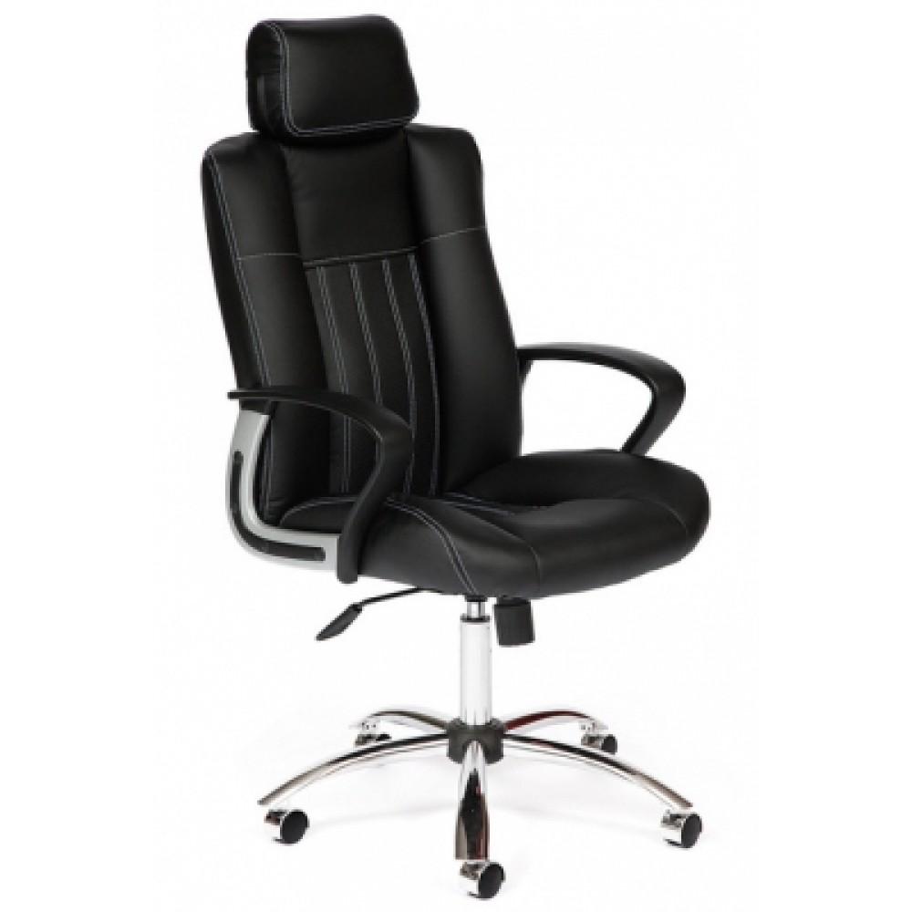 Кресло компьютерное Оксфорд (Oxford) хром — черный/черный перфорированный (36-6/36-6/06)