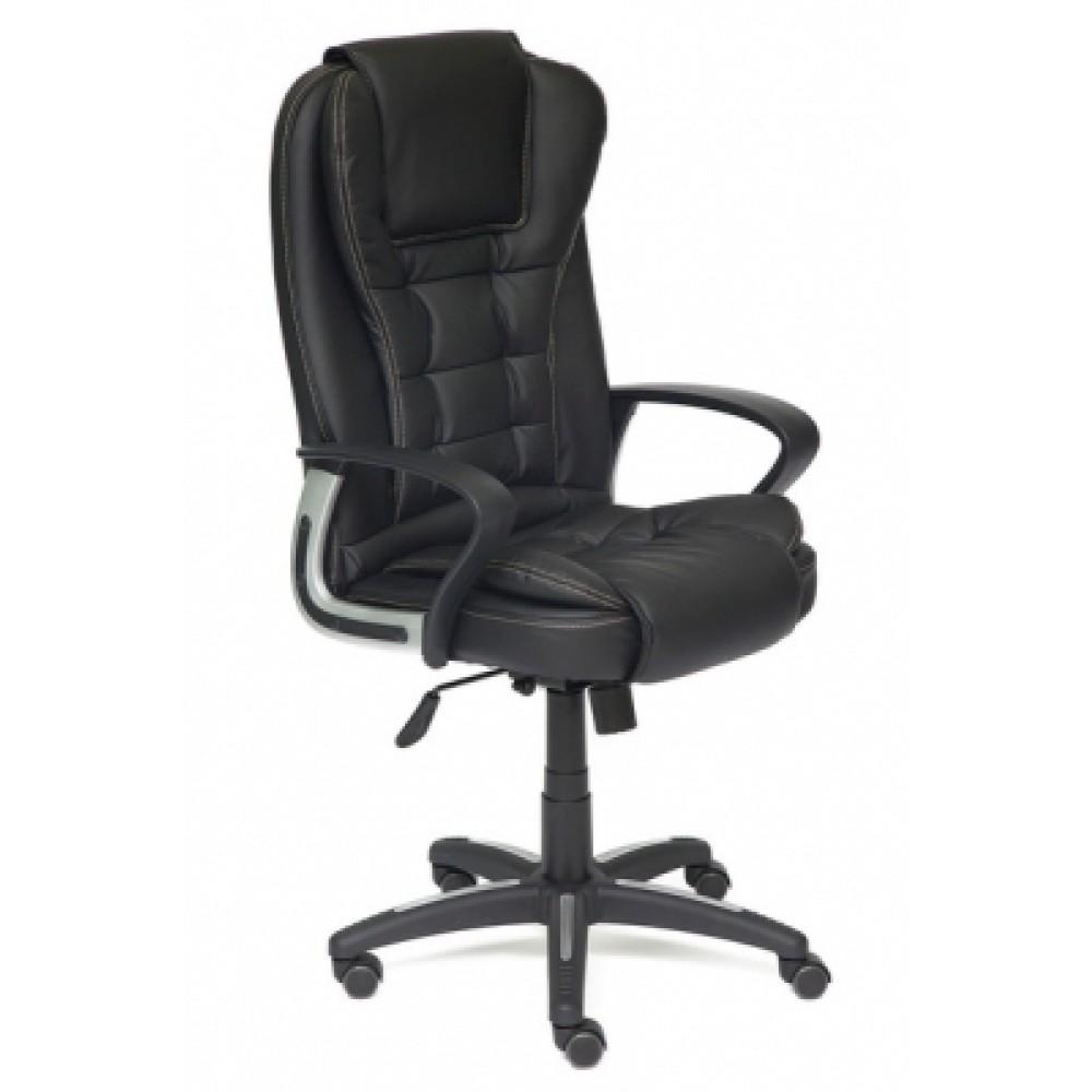 Кресло компьютерное Барон (BARON) — черный/черный перфорированный