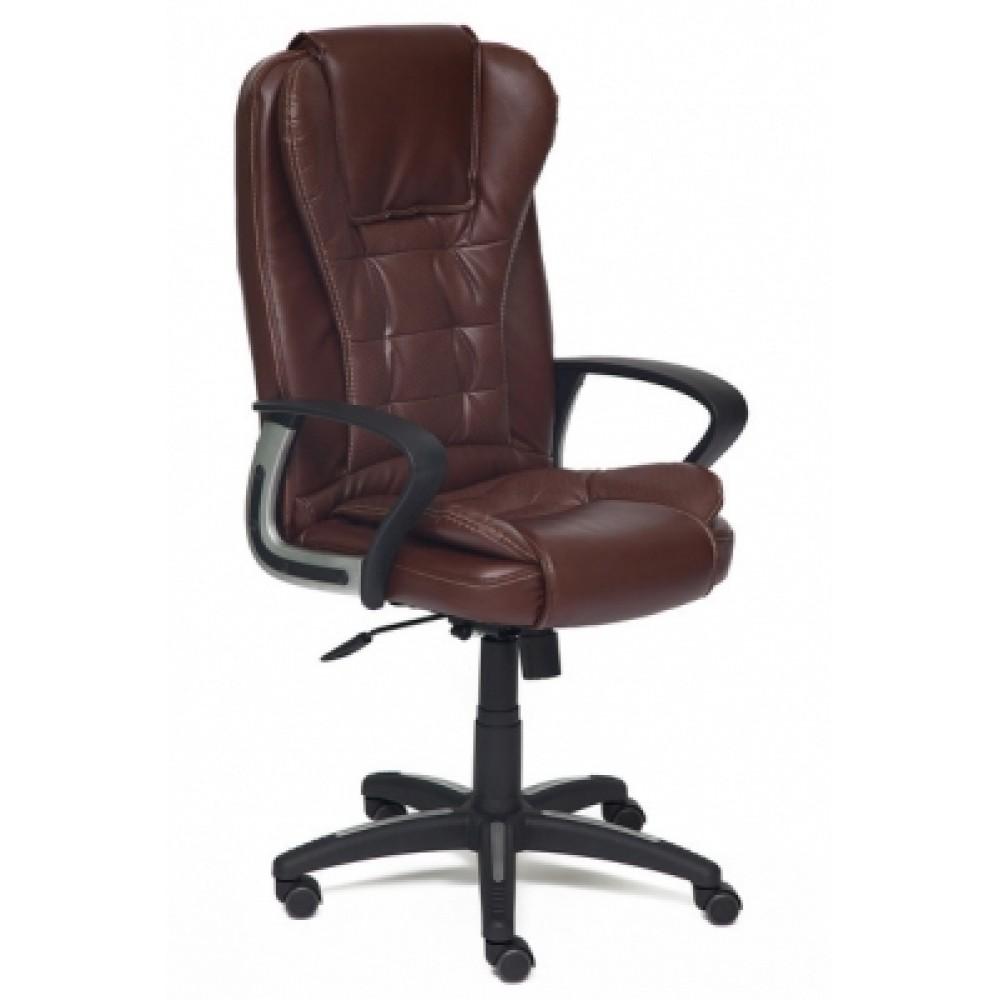 Кресло компьютерное Барон (BARON) — коричневый/коричневый перфорированный (2 TONE/2 TONE /06)