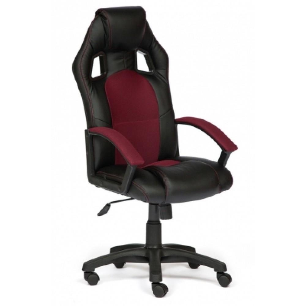 Кресло компьютерное Драйвер (Driver) — черный/бордо (36-6/13)
