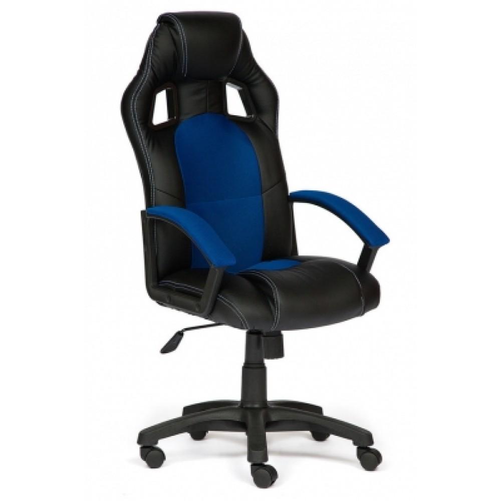 Кресло компьютерное Драйвер (Driver) — черный/синий (36-6/10)