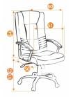 Кресло компьютерное Максима (Maxima) Хром — коричневый