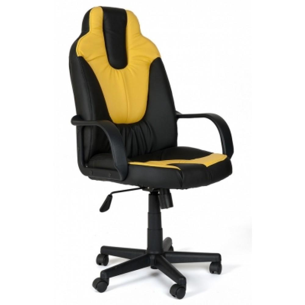 Кресло компьютерное Нео 1 (Neo 1) — черный/жёлтый (36-6/36-14)