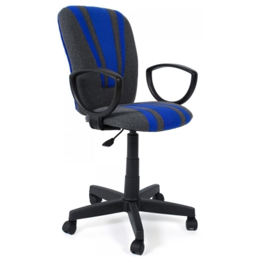 Кресло компьютерное Спектрум (Spectrum) — серый/синий
