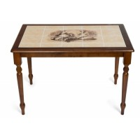 Стол с плиткой СТ 3045Р темный (Натюрморт) — Тёмный Дуб