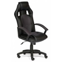 Кресло компьютерное Драйвер (Driver) — черный/серый (36-6/12)