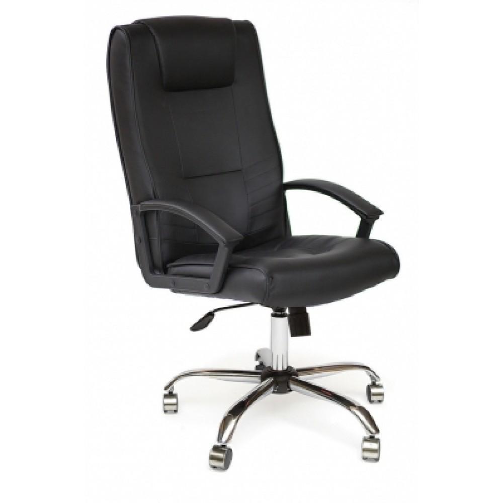 Кресло компьютерное Максима (Maxima) Хром — черный (36-6)