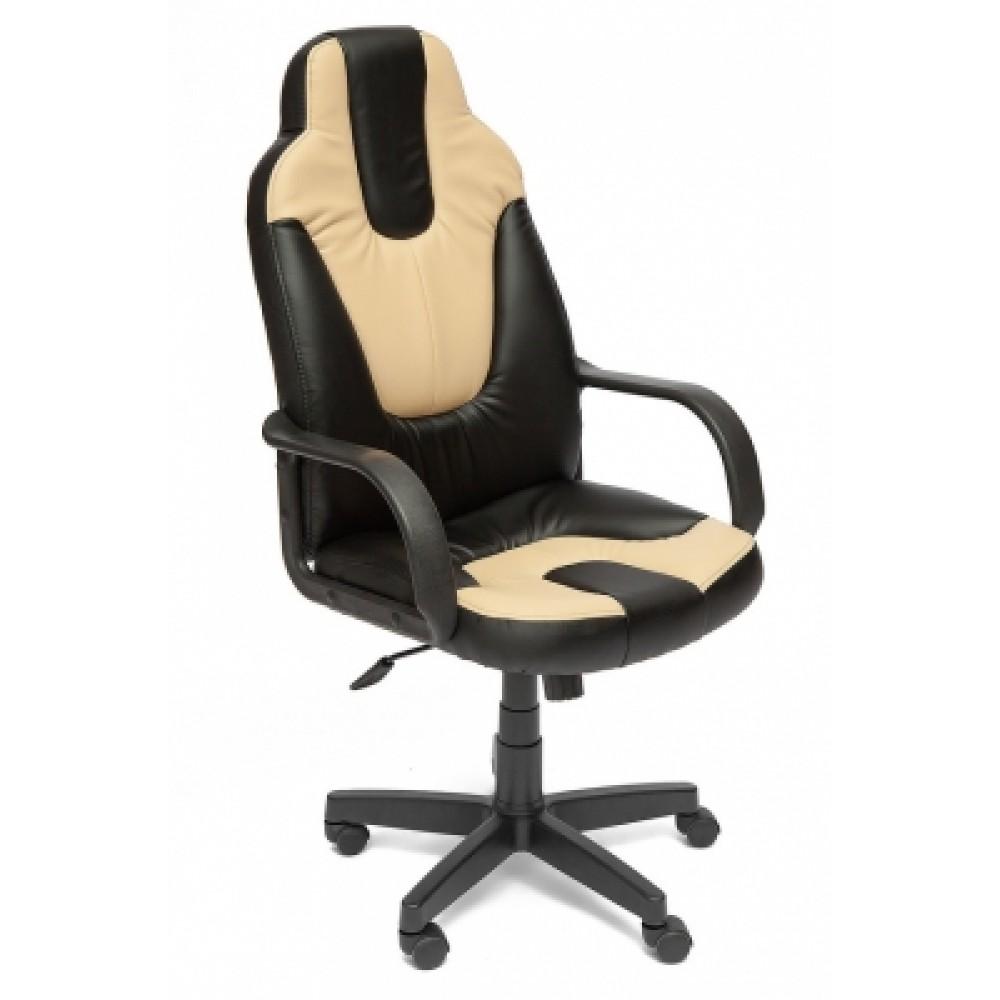 Кресло компьютерное Нео 1 (Neo 1) — черный/бежевый (36-6/36-34)