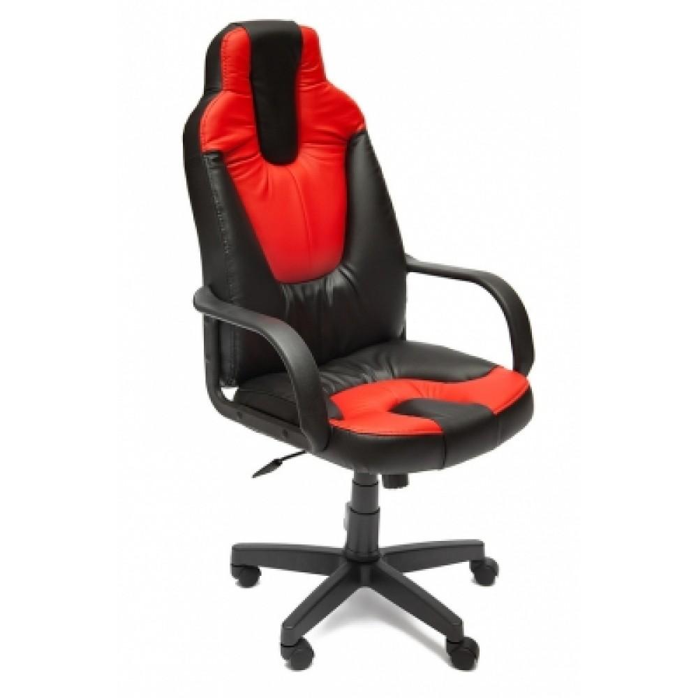 Кресло компьютерное Нео 1 (Neo 1) — черный/красный (36-6/36-161)