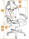 Кресло компьютерное Нео 1 (Neo 1) — коричневый/бежевый (36-36/36-34)