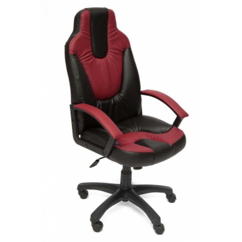 Кресло компьютерное Нео 2 (Neo 2) — черный/бордо