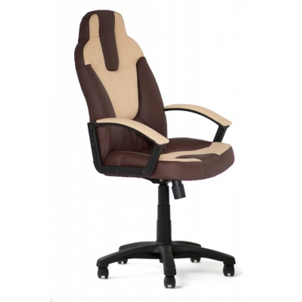 Кресло компьютерное Нео 2 (Neo 2) — коричневый/бежевый (36-36/36-34)