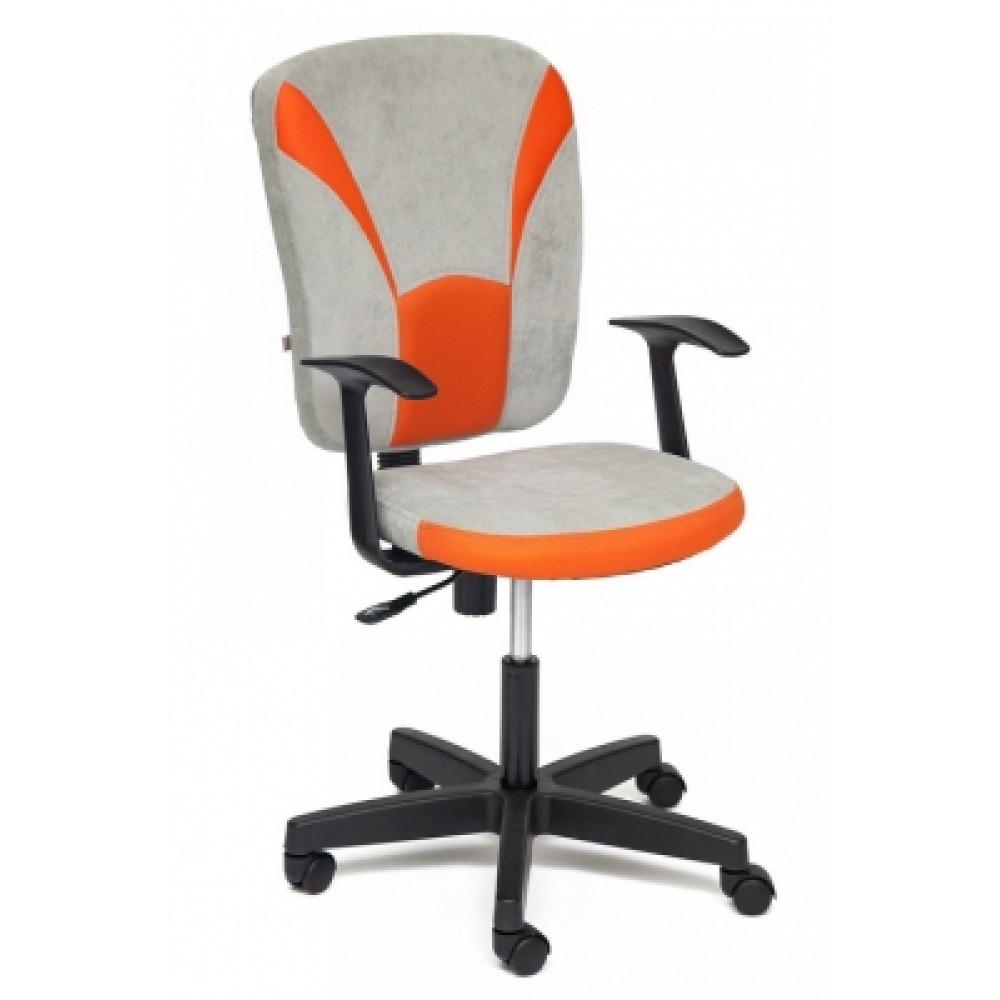 Кресло компьютерное Остин (Ostin) — серый/оранжевый (Мираж грей/TW-07)