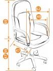 Кресло компьютерное Парма (Parma) — черный/бордо (36-6/36-7)