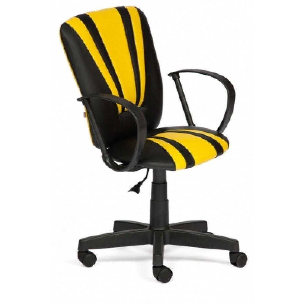 Кресло компьютерное Спектрум (Spectrum) — черный/жёлтый (36-6/36-14)