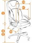 Кресло компьютерное Твистер (Twister) — черный/синий (36-6/36-39)