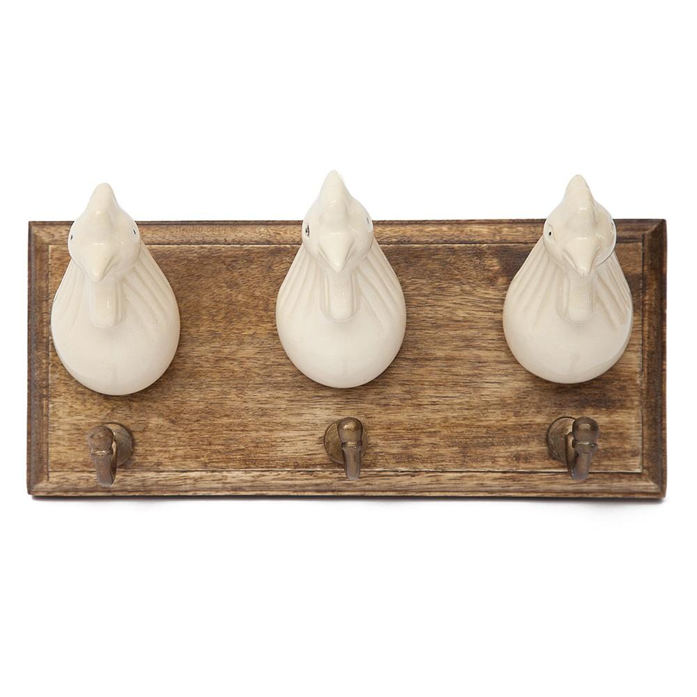 """Вешалка трехместная """"Курочки"""" Secret De Maison Шату (CHATEAU) (mod.C-1435 (L) ) — натуральный (natural)"""