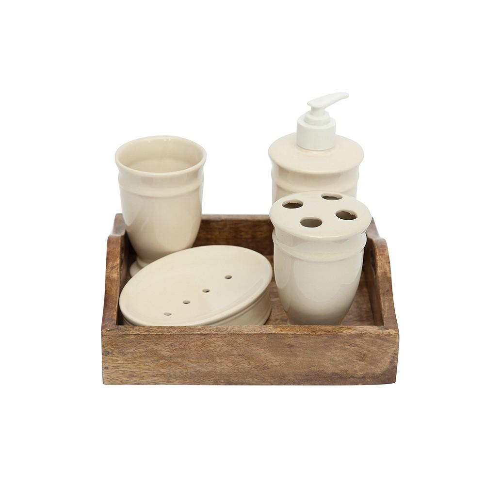 Набор для ванной на подносе Secret De Maison Шату (CHATEAU) (mod. C-3525) — натуральный (natural)