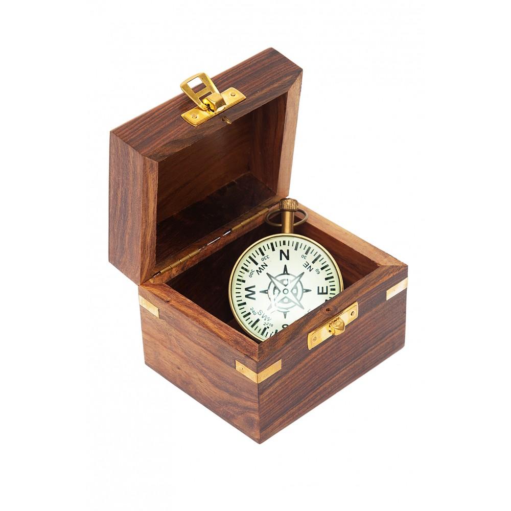 Часы в деревянной подарочной коробке Secret De Maison ( mod. 40710 ) — античная медь/коричневый