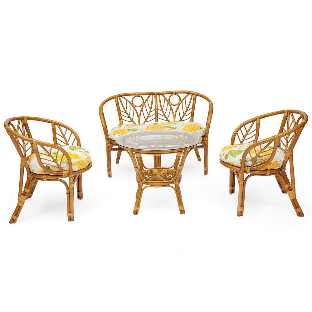 """КОМПЛЕКТ для отдыха """"CORSICA"""" — Honey (мед)  (ткань: желтые цветы)"""