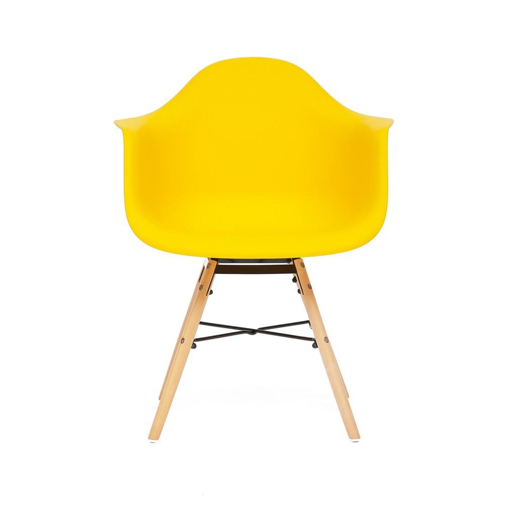 Кресло Secret De Maison Синди (CINDY) (EAMES) (mod. 919) — желтый/yellow with natural legs