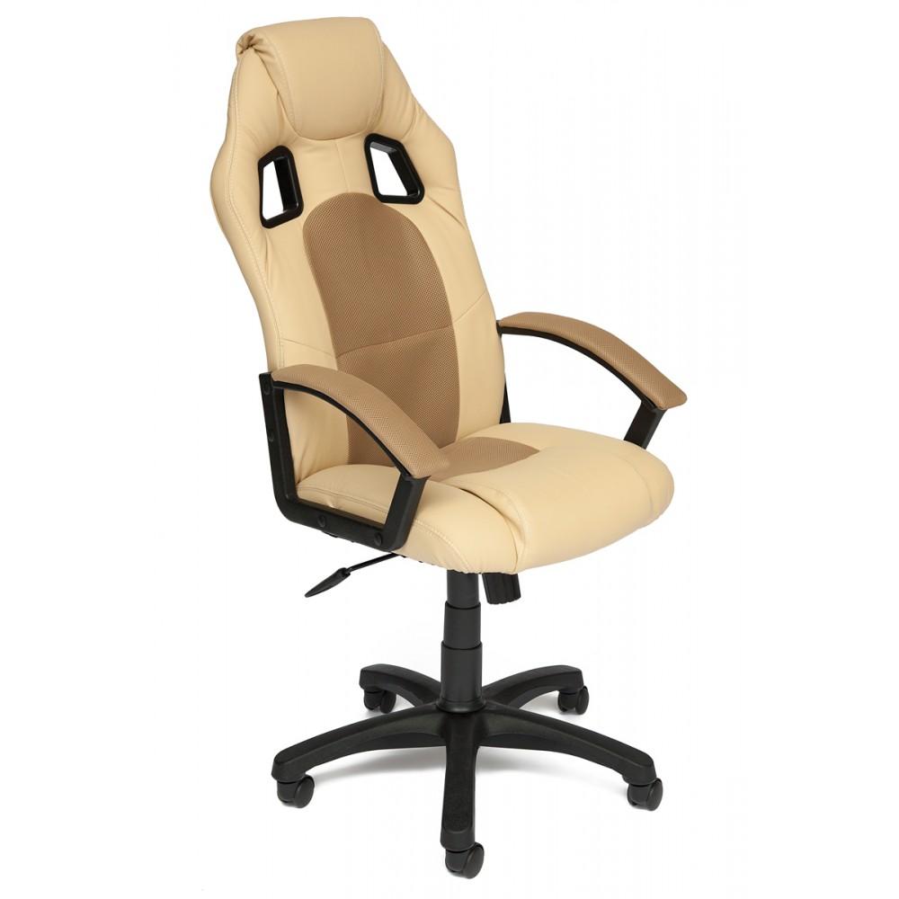 Кресло компьютерное Драйвер (Driver) — бежевый/бронзозый (36-34/21)