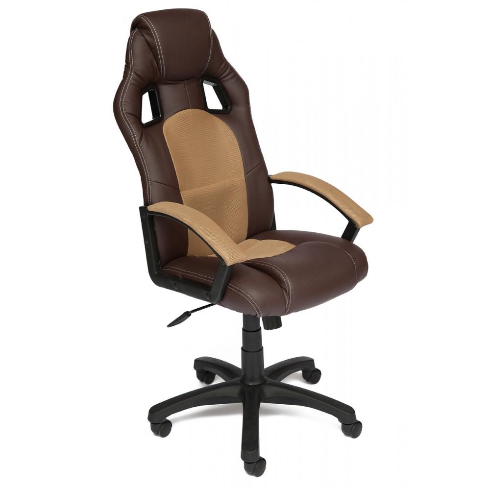 Кресло компьютерное Драйвер (Driver) — коричневый/бронзовый (36-36/21)