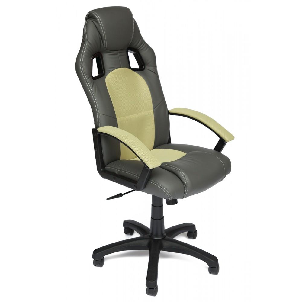 Кресло компьютерное Драйвер (Driver) — металлик/фисташковый (36/25)