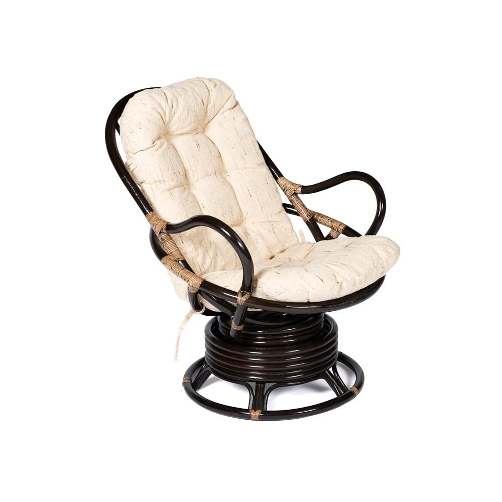 """Кресло вращающееся """"Флорес (FLORES)"""" 5005 /с подушкой/ — натуральный (Antique brown (античный черно-коричневый))"""