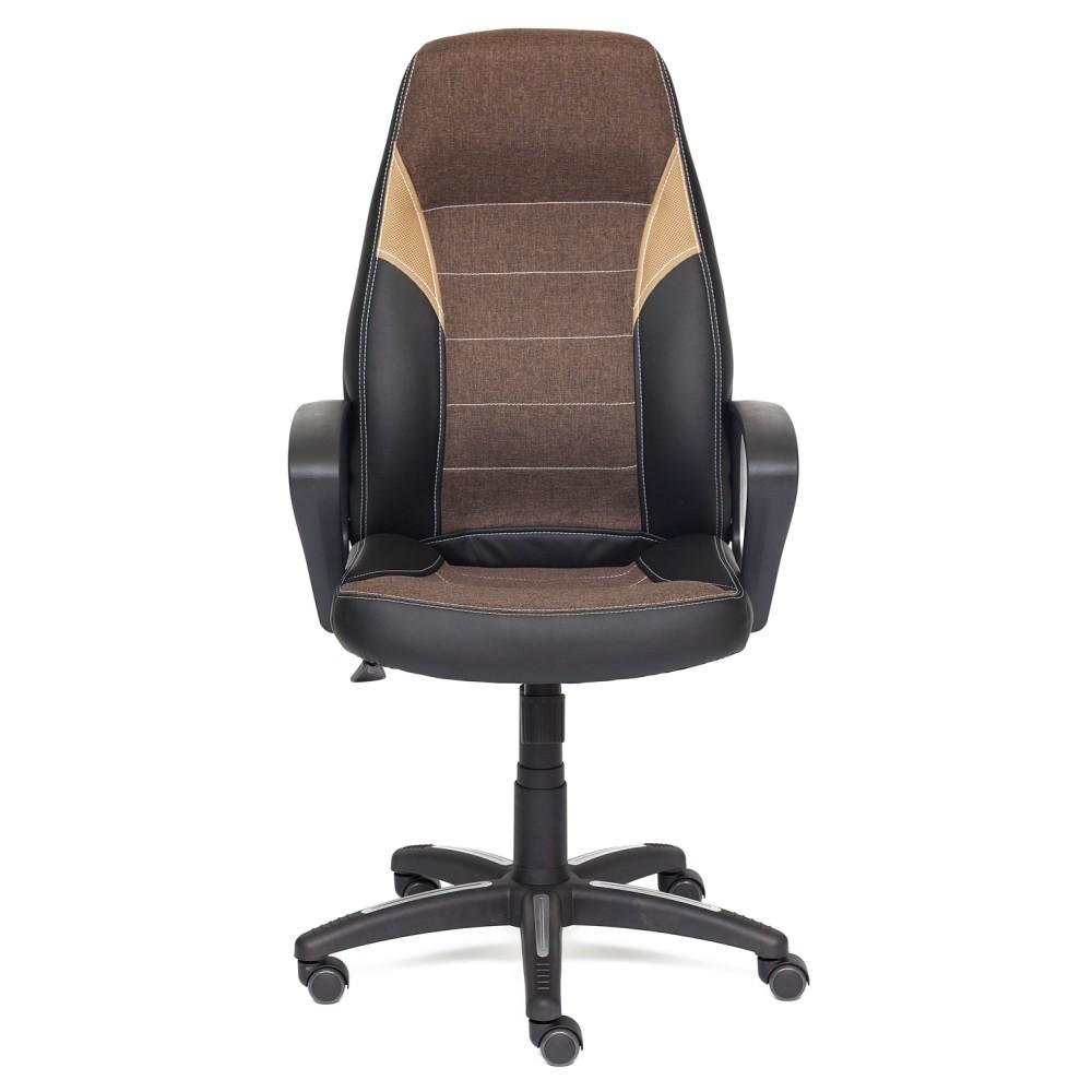 Кресло компьютерное Интер (Inter) — черный/коричневый/бронзовый (36-6/3М7-147/21)