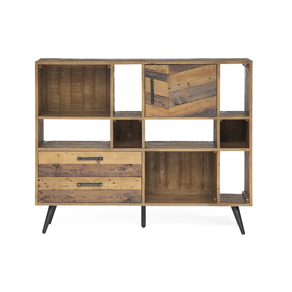 Шкаф книжный Secret De Maison Ларго (LARGO) (mod. LAR L02-Н120) — brown recycled