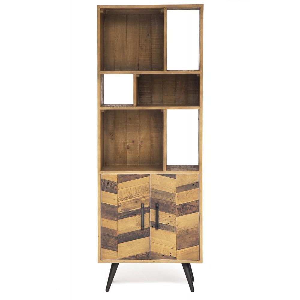 Шкаф книжный Secret De Maison Ларго (LARGO) (mod. LAR L02-70) — brown recycled