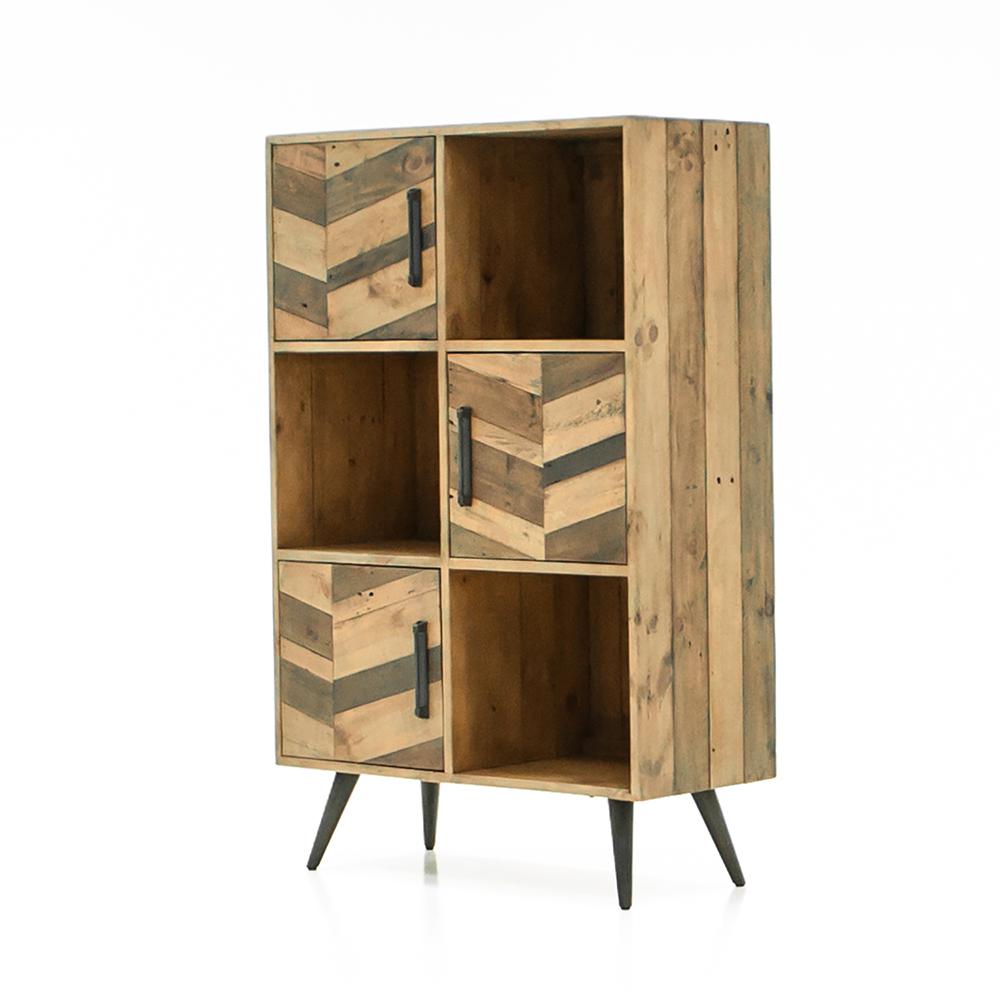 Шкаф книжный Secret De Maison Ларго (LARGO) (mod. LAR L04В) — brown recycled