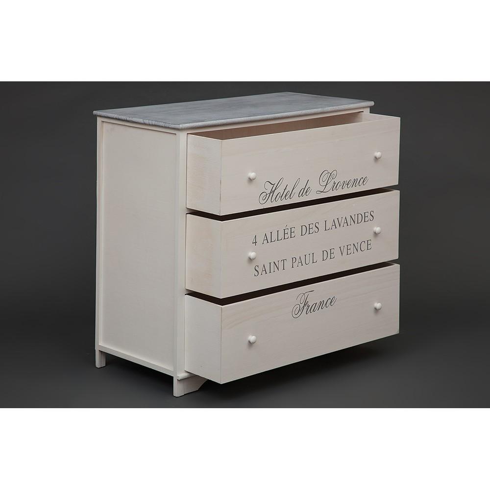 Комод с 3 ящиками Secret De Maison Лаванда (LAVANDES) ( mod. HX16-010NS )