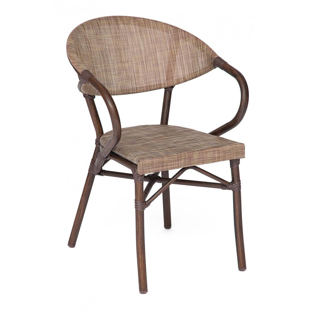 Кресло Милано (Milano) (mod. AD642003S-TXT) — коричневый/бежевый